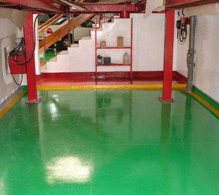 Pintura epoxi para pisos materiales de construcci n para - Pintura para pintar piso de cemento ...